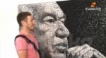 Чыңгыз Айтматовдун портрети String Art ыкмасы менен тартылып жатат