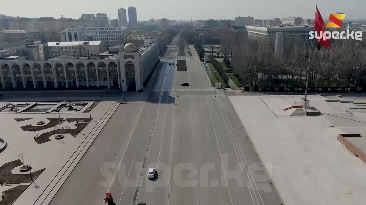 Жолбун иттер, көгүчкөндөр, бирин серин унаа: карантиндеги Бишкек