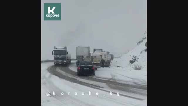 Бишкек-Ош унаа жолуна кар жаады